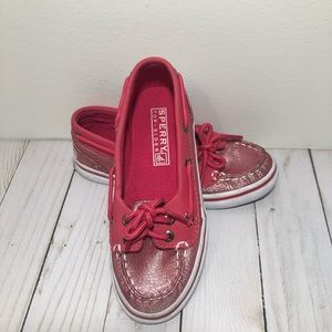 Sperry Top-Sider Boat Shoes Pink Sparkle Girls 13M